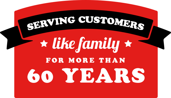 Serving customers like family for more than 60 years